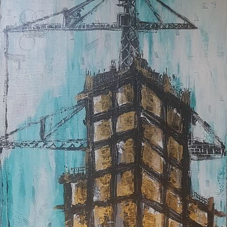 building abstract painting