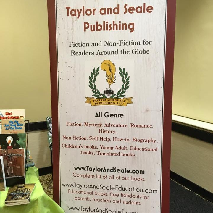 Taylor and Seale Publishing Company, Banner, sign, event, FHBF, authors, books, fiction, non fiction, writing, reading, events, education