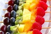 Delicious Fresh Fruit Skewers