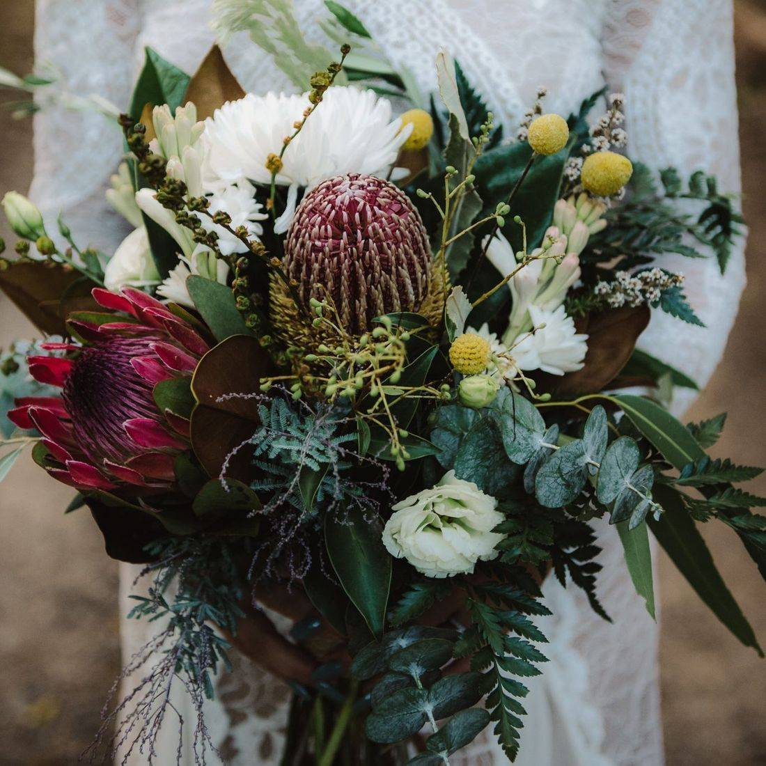 Bouquet by Flowers at the Farm
