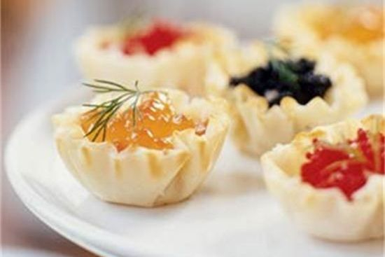 Caviar & Cream Cheese Seattle Caterers