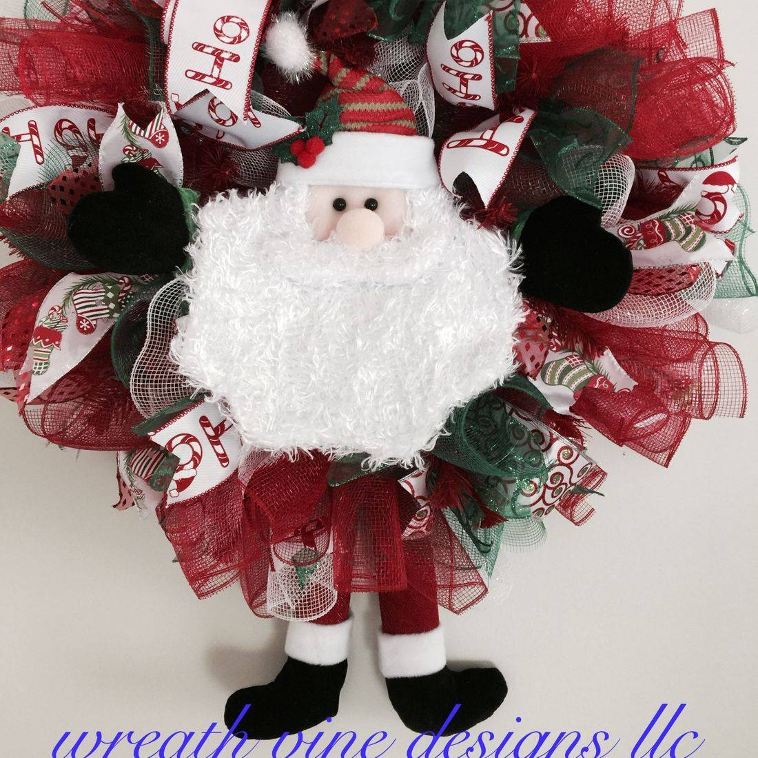 Plush Santa Wreath