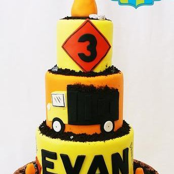 Custom Construction Dump Truck Cake Milwaukee