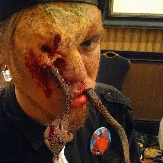 snakes reptiles wounds fx special effects makeup face off syfy horror dead the get dead crew