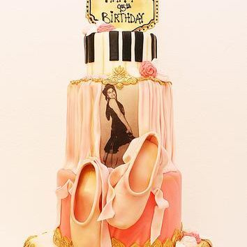 Custom Dancer Ballet Music Cake Milwaukee