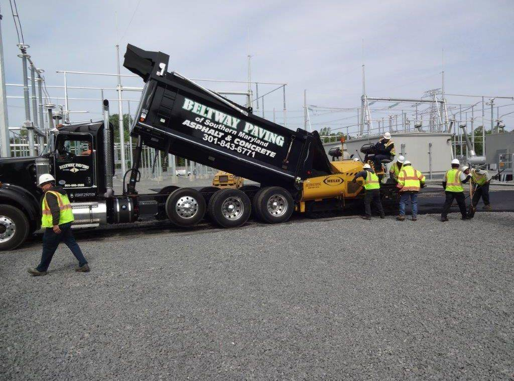 beltway paving of southern maryland laying installing asphalt roadway
