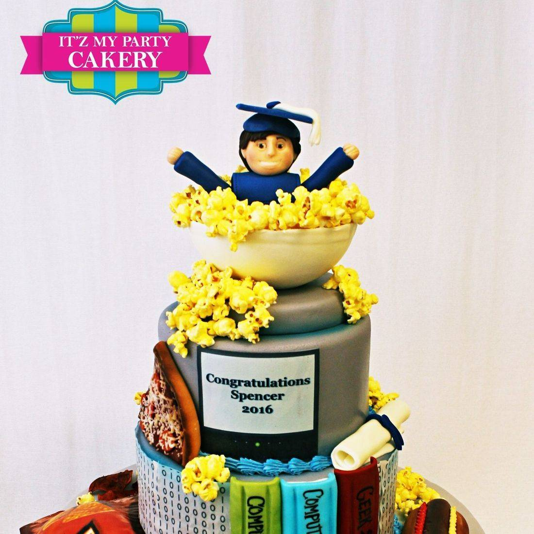Custom Graduate Popcorn Cake Milwaukee