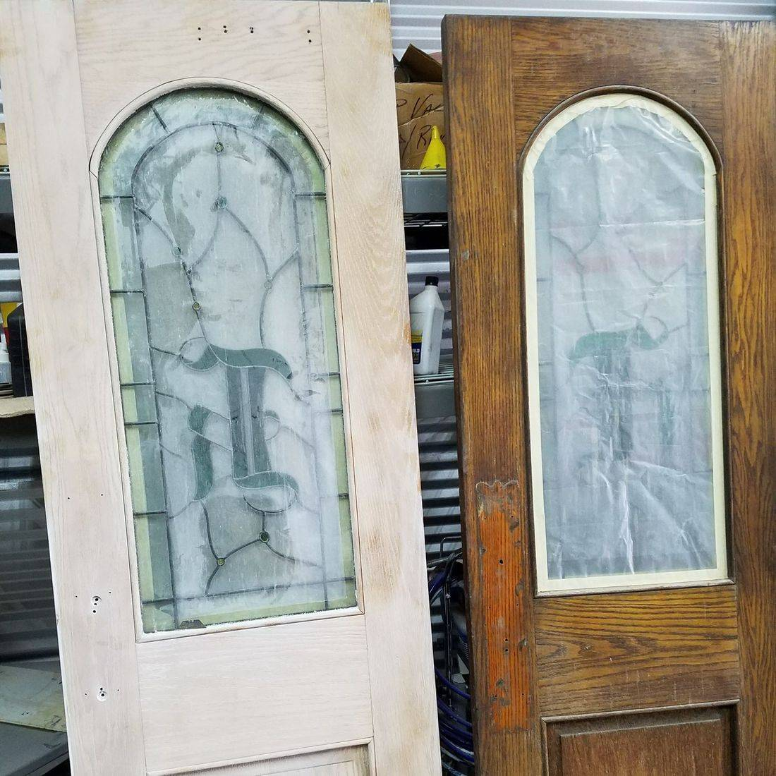 LEADED GLASS DOOR RESTORATION