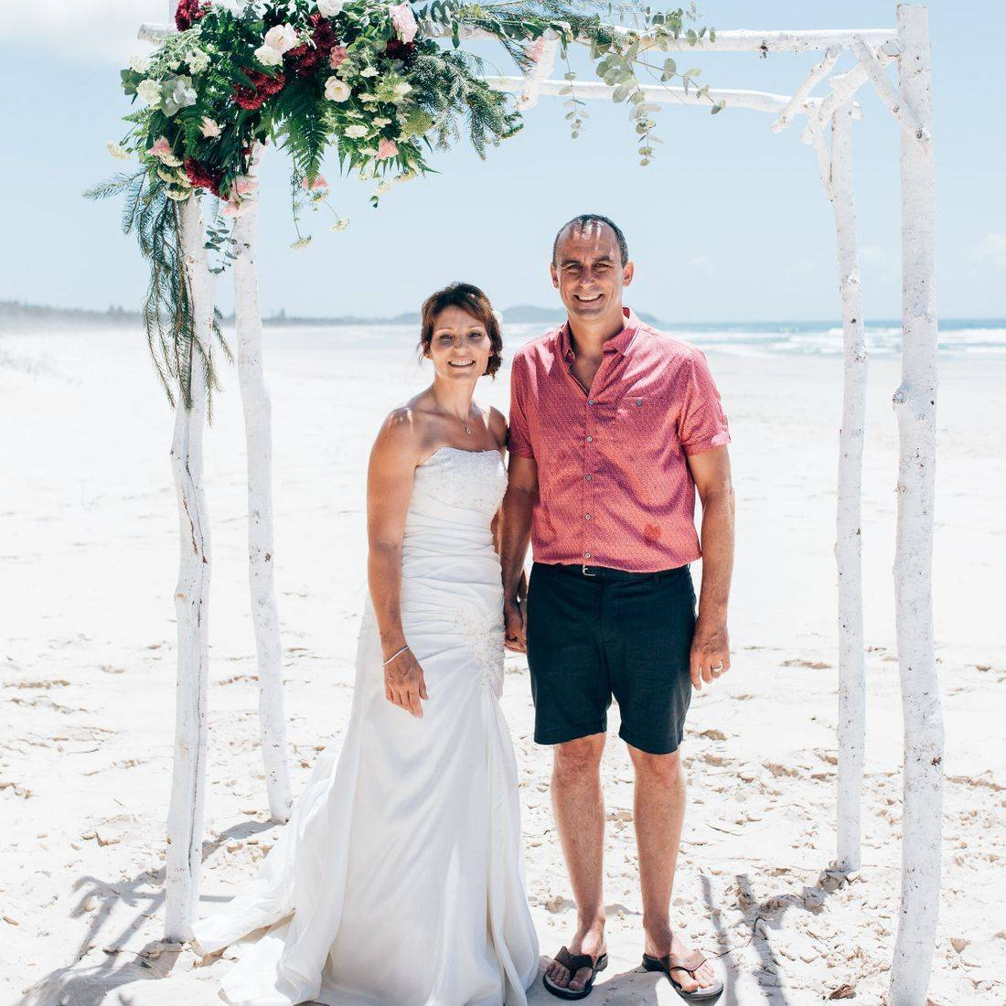 Karen and Andy's beach wedding