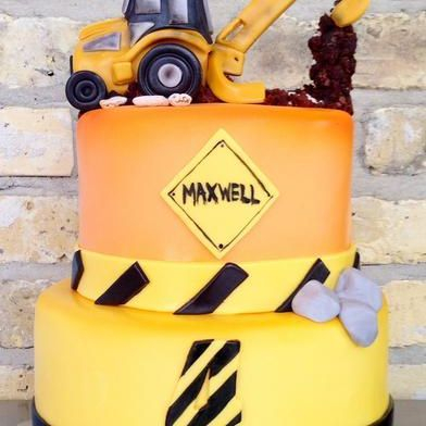 Custom Construction Scooper Cake Milwaukee