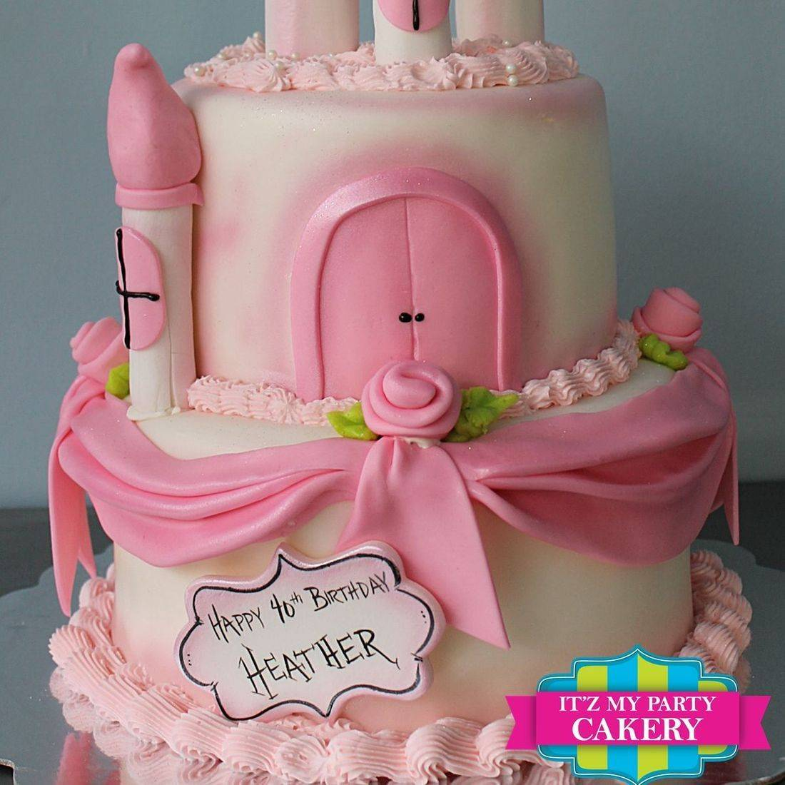 Custom  Pink Princess Castle  Cake  Milwaukee