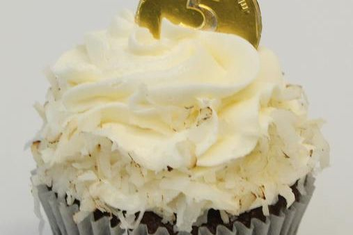 Treasure Island Coconut Chocolate Cupcake