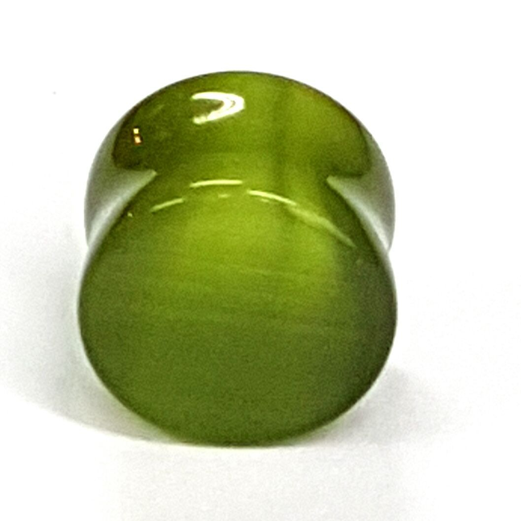 green cats eye ear plug  available at Kazbah online or our Leicester City Centre store
