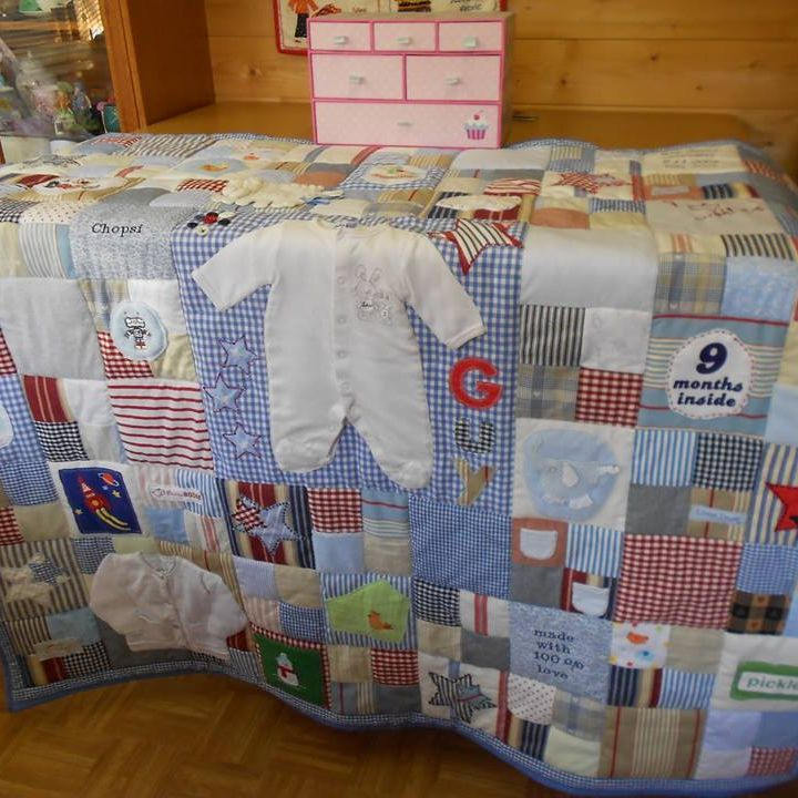 Boys clothing keepsake quilt