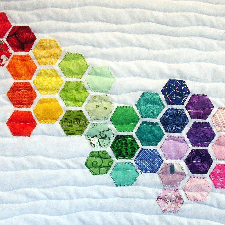 Sea Glass Hexagon Quilted Wall Art