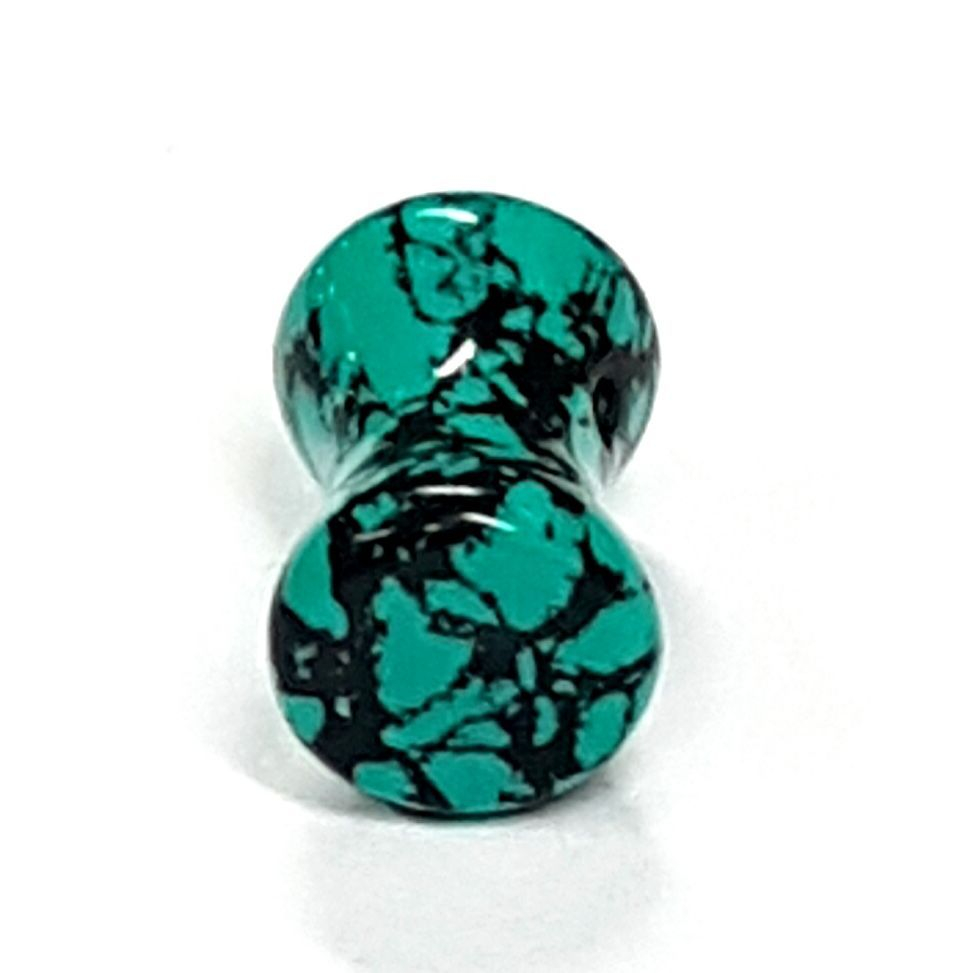 Turquoise ear plug  available at Kazbah online or our Leicester City Centre store