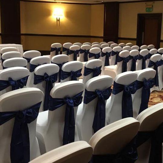 Wedding chair cover hire Hilton Grosvenor, Edinburgh