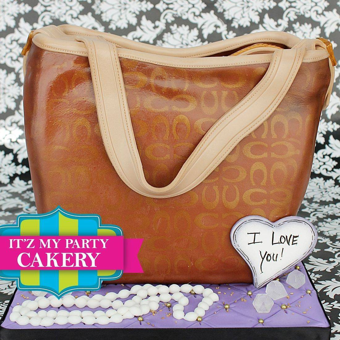 Brown Tan Coach Purse Carved Dimensional Cake Milwaukee