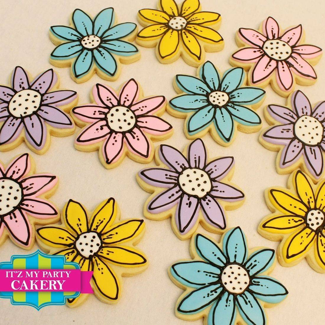 Daisy Flower cookies Milwaukee