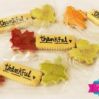 Thankful Fall Leaves Cookie Set Milwaukee