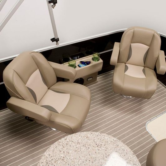 Rear and bar seating on our luxury pontoon boat