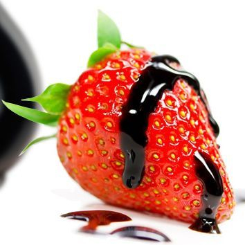 Strawberries with balsamic vinegar, balsamic vinegar from Modena