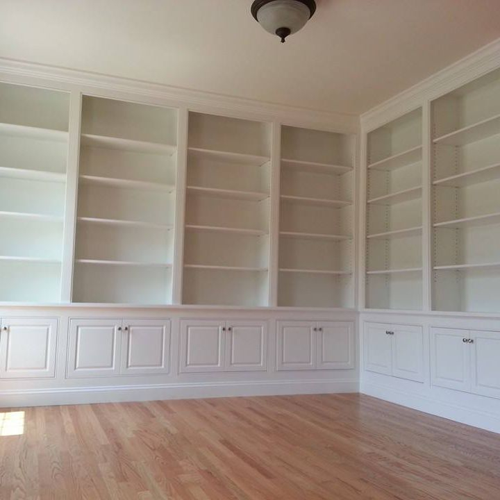 custom built-in office cabinetry