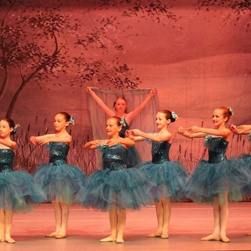 "Our INB dancers, 6 year olds and 7 year old,  perform onstage in ""Elements"", performed in Spokane last June"