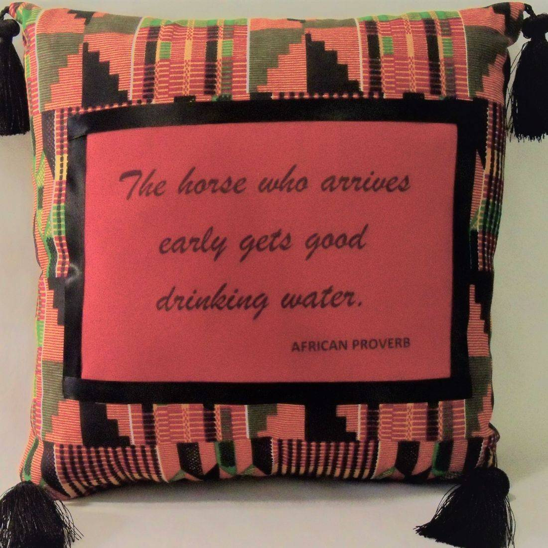 African Proverb Pillow