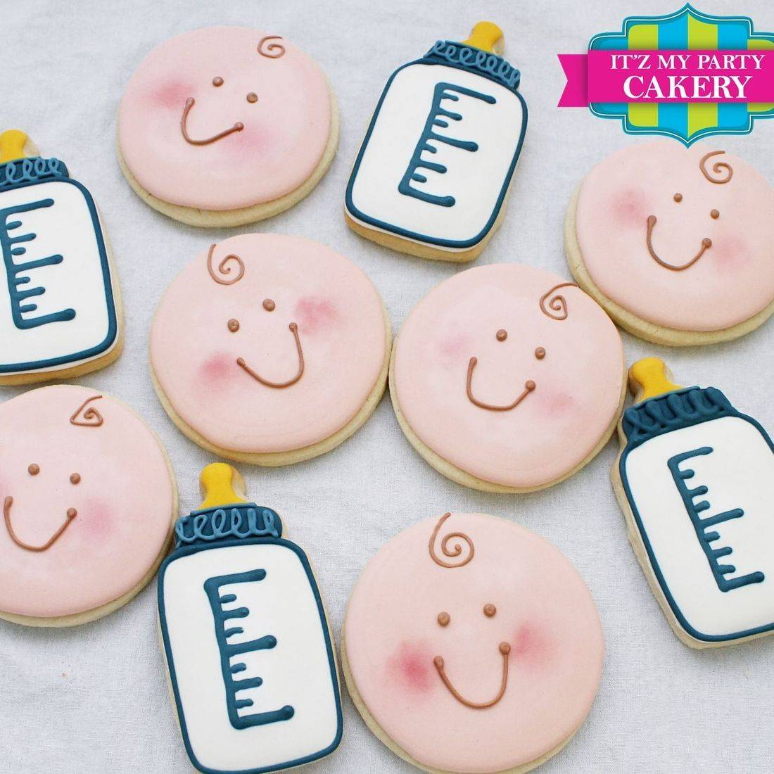 Baby Face Baby Bottle Cookies Milwaukee