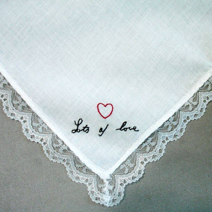 Signature Wedding Handkerchief