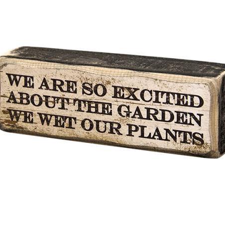 primitive garden plant sign
