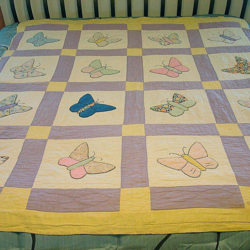 Butterfly quilt before