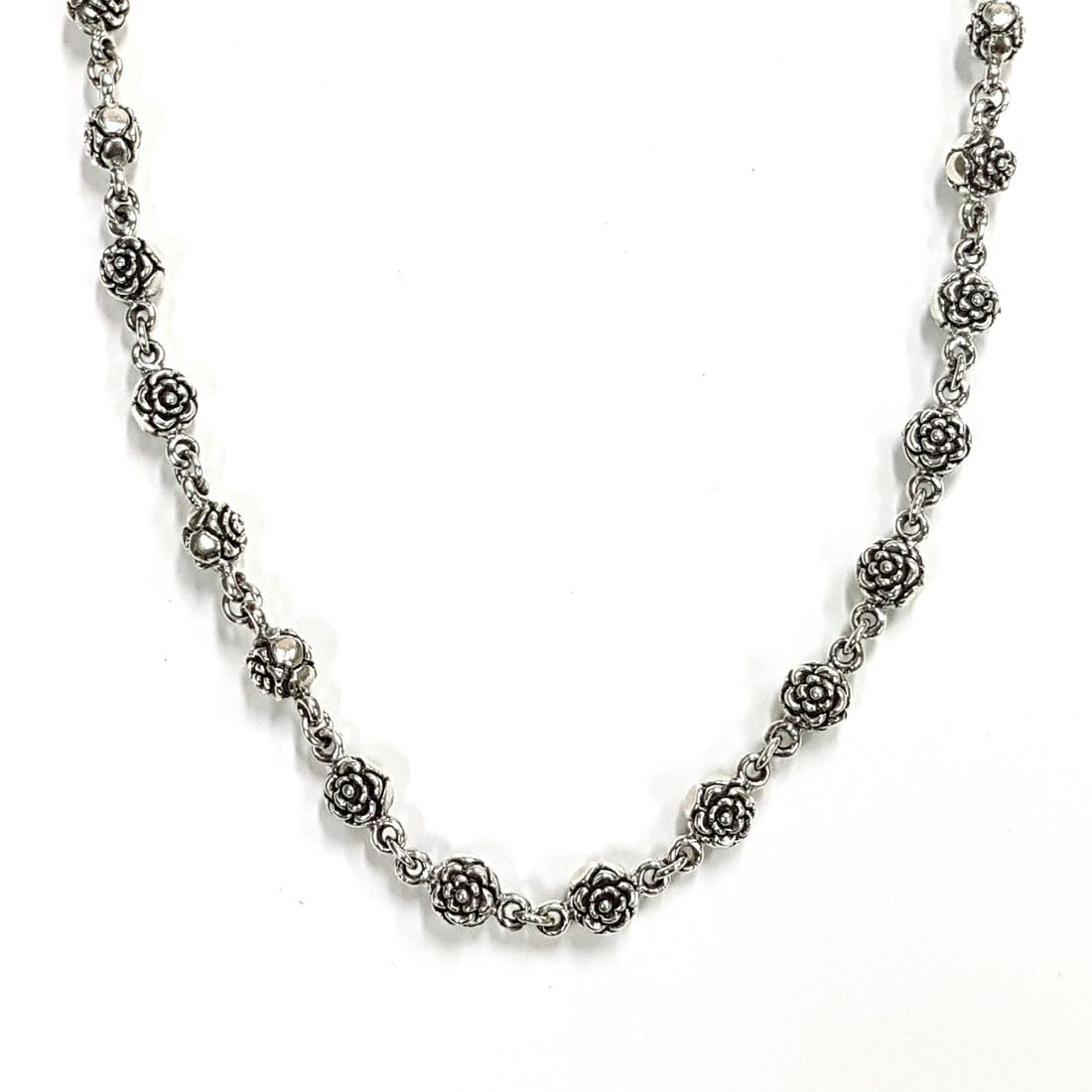 Solid Silver Roses Chain   available at Kazbah online and our Leicester City Centre Shop
