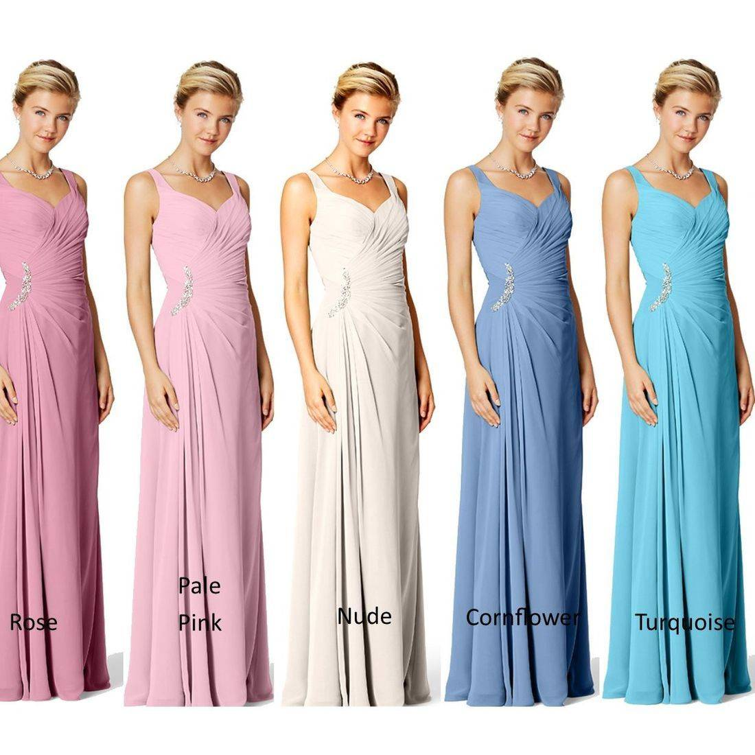 Many colours for Bridesmaids
