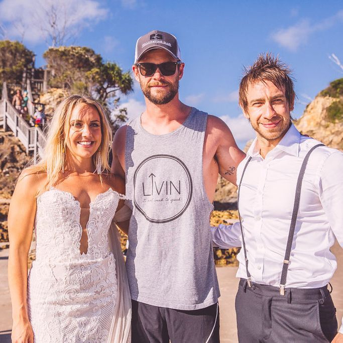 Chris Hemsworth, Anneka and Kent's wedding
