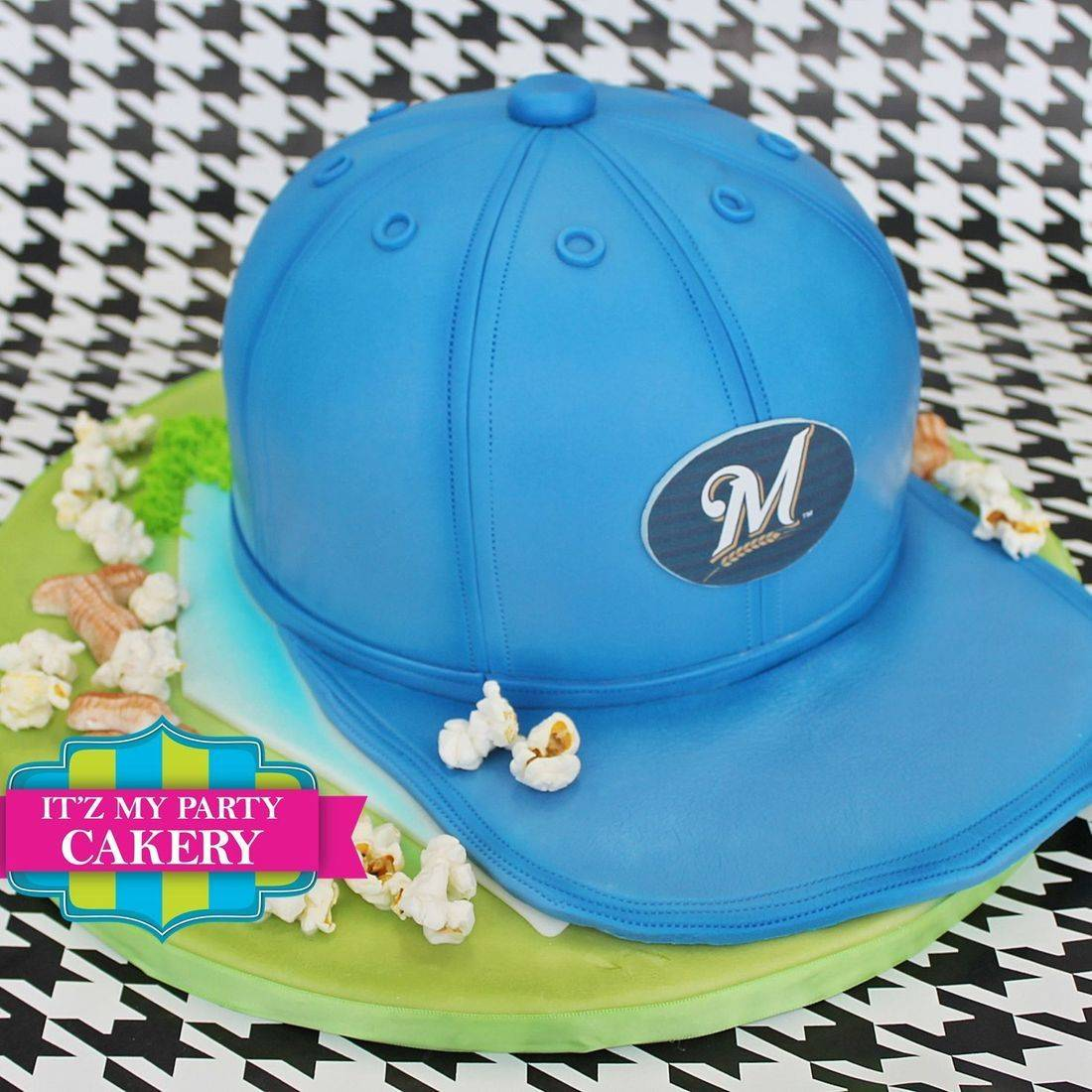 Brewer Hat Cake Carved Dimensional Cake Milwaukee
