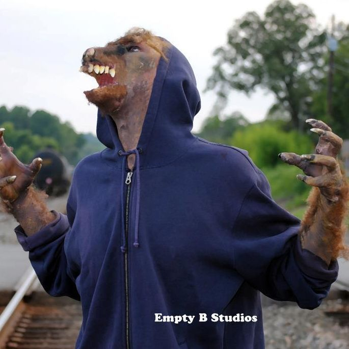 wolf warewolf werewolf prosthetic out of kit makeup claws monster hands special effects horror
