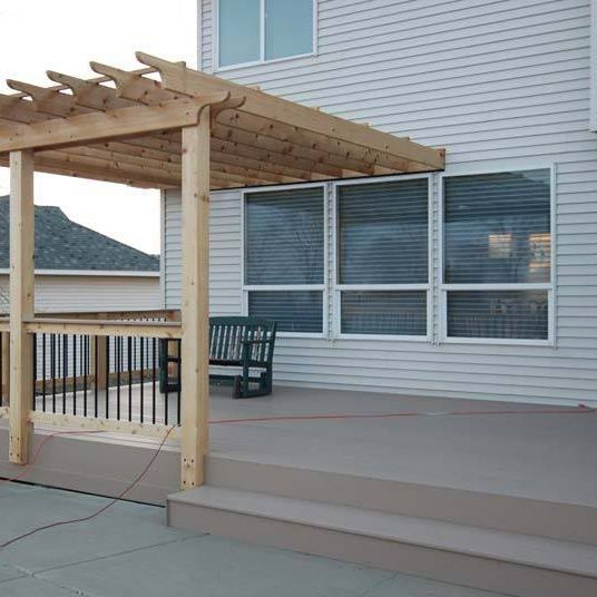 Pegola over patio or deck