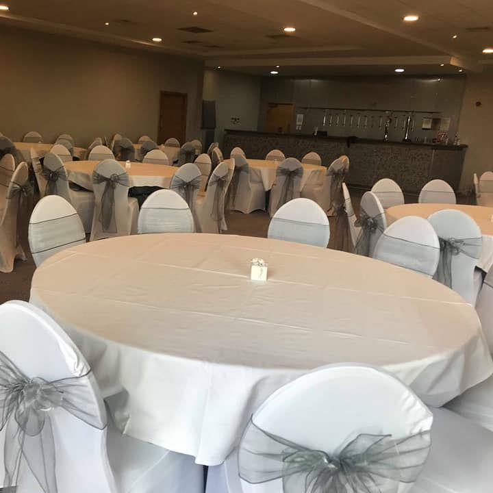 Chair cover hire David Lloyd Centre, Anniesland