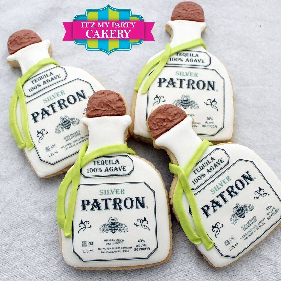 Patron Bottle Cookies Milwaukee