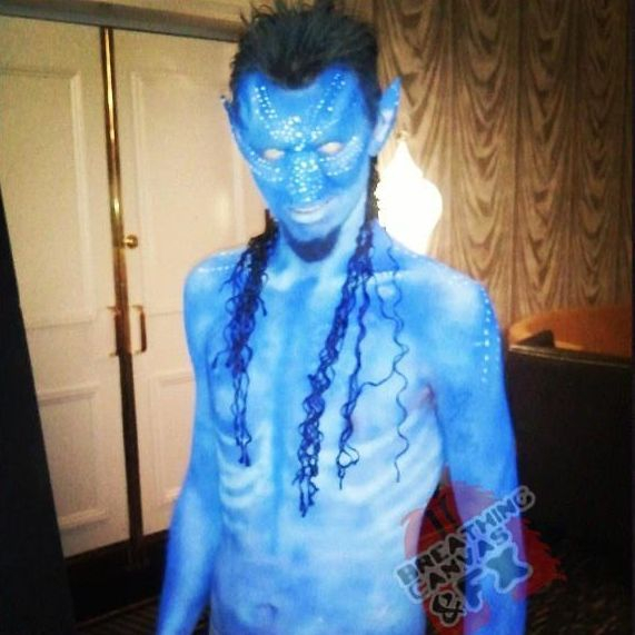 bodypaint avatar bodyart transformation bluebody