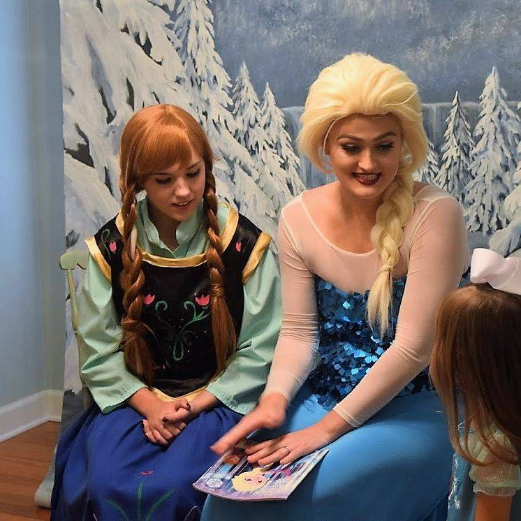Elsa and Ana at a Birthday Party