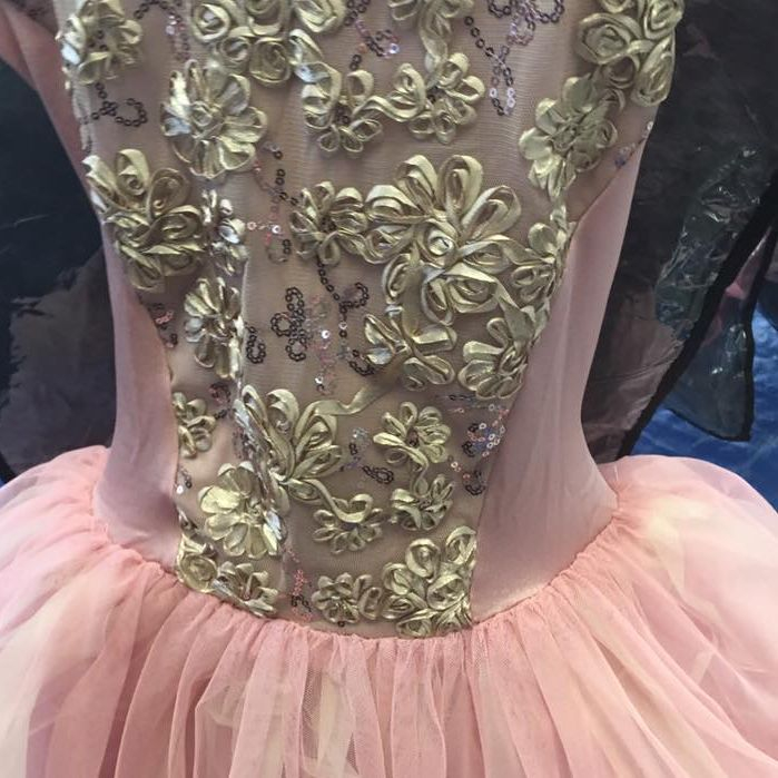 This stunning costume for satin and tulle will be worn by our level 5 dancers onstage in our downtown Spokane dance performance.