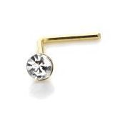 14ct gold diamond nose stud available at Kazbah online and our Leicester city centre shop