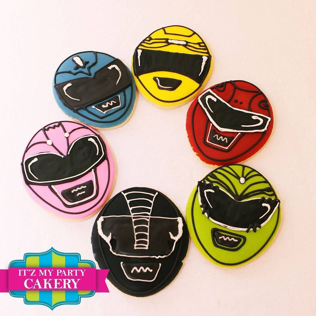 Power Ranger Face  cookies Milwaukee