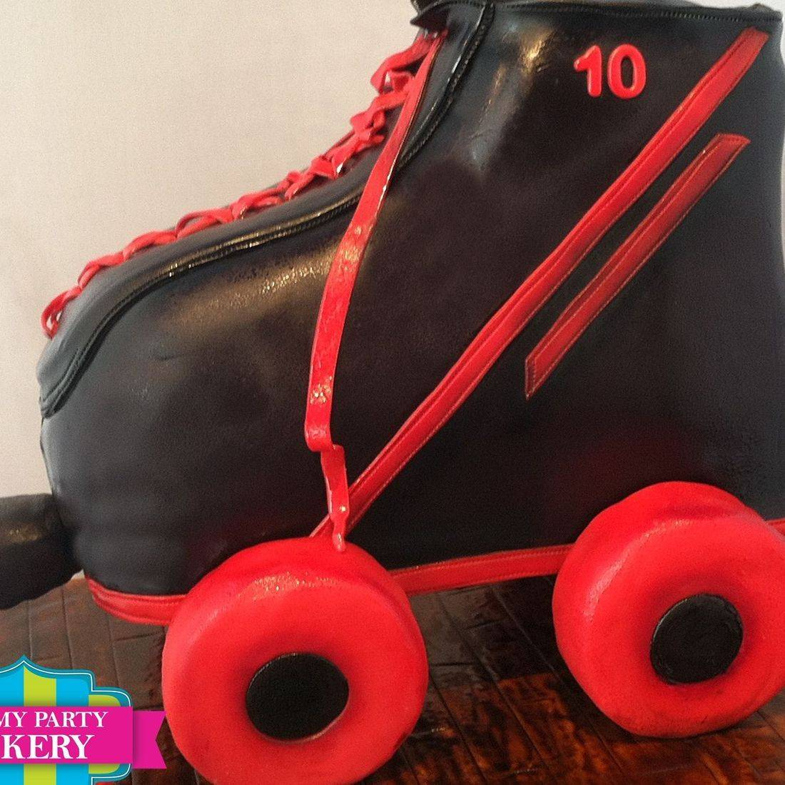 Giant Roller Skate Cake Carved Dimensional Cake Milwaukee