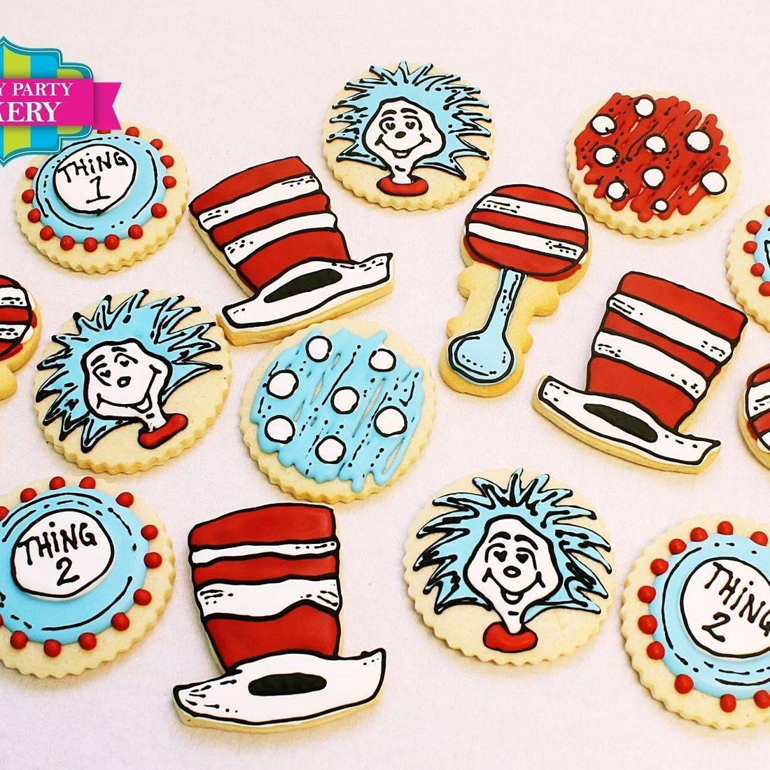 Thing 1 Thing 2 Dr Suess Cookie Set Milwaukee