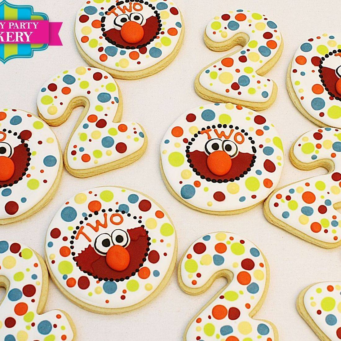 Elmo Polka dot cookies Milwaukee