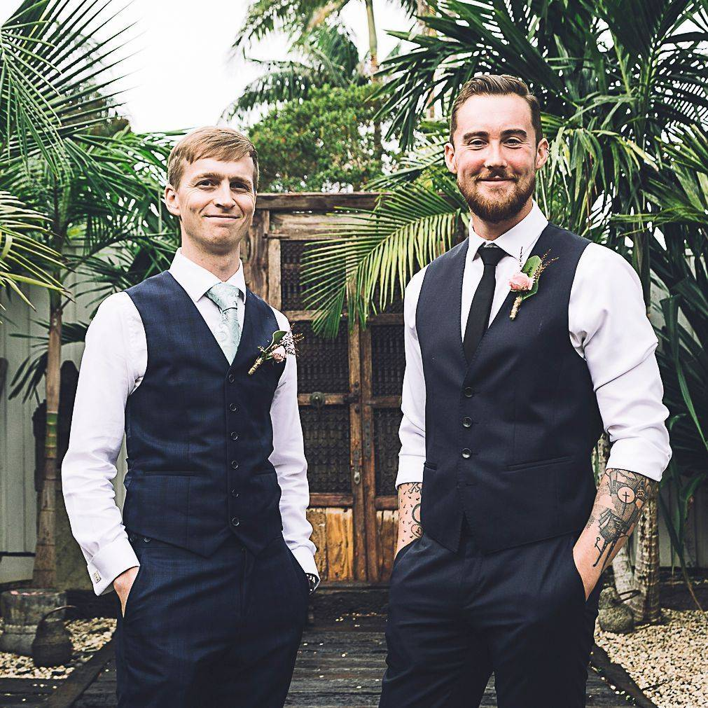 Matt and his best man